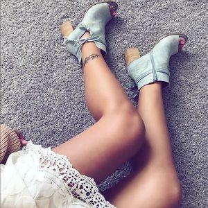 Shoes - Alana denim heels